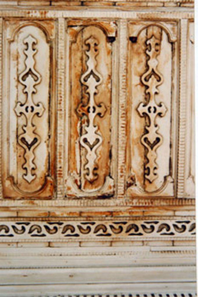 ÜSKÜDAR III. AHMET ÇEŞMESİ RESTORASYON ÖNCESİ SAÇAK DETAYI