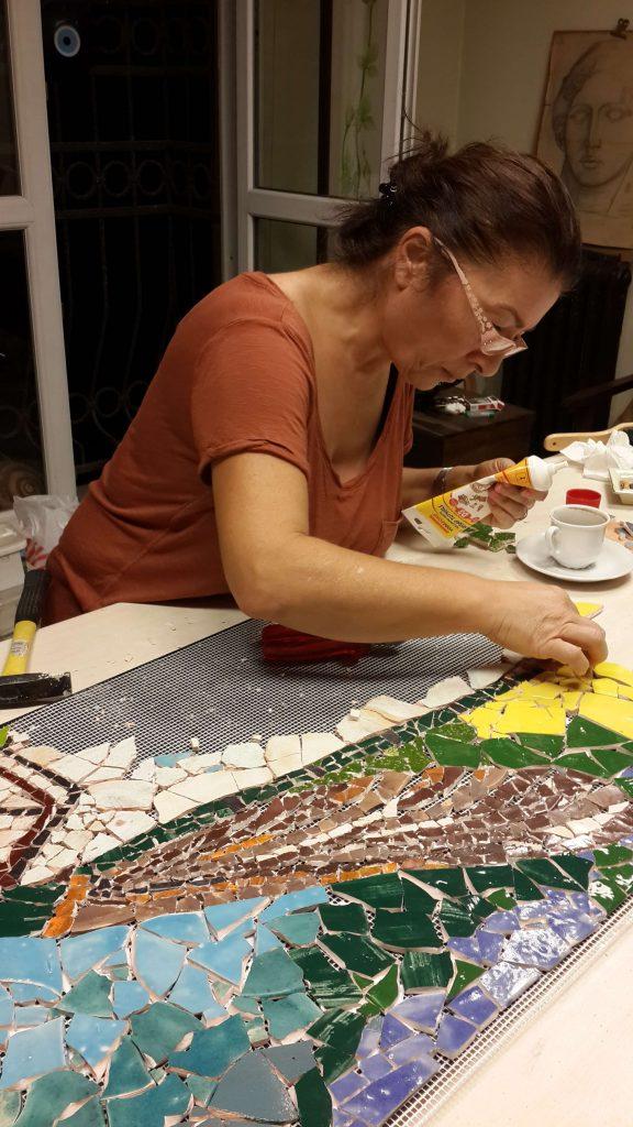Mozaik çalışması / Mosaic work
