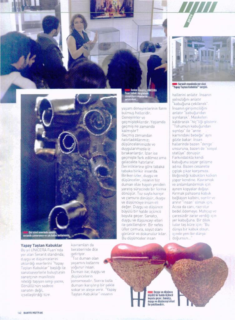 2012 yılı Banyo Mutfak dergi röportajı.