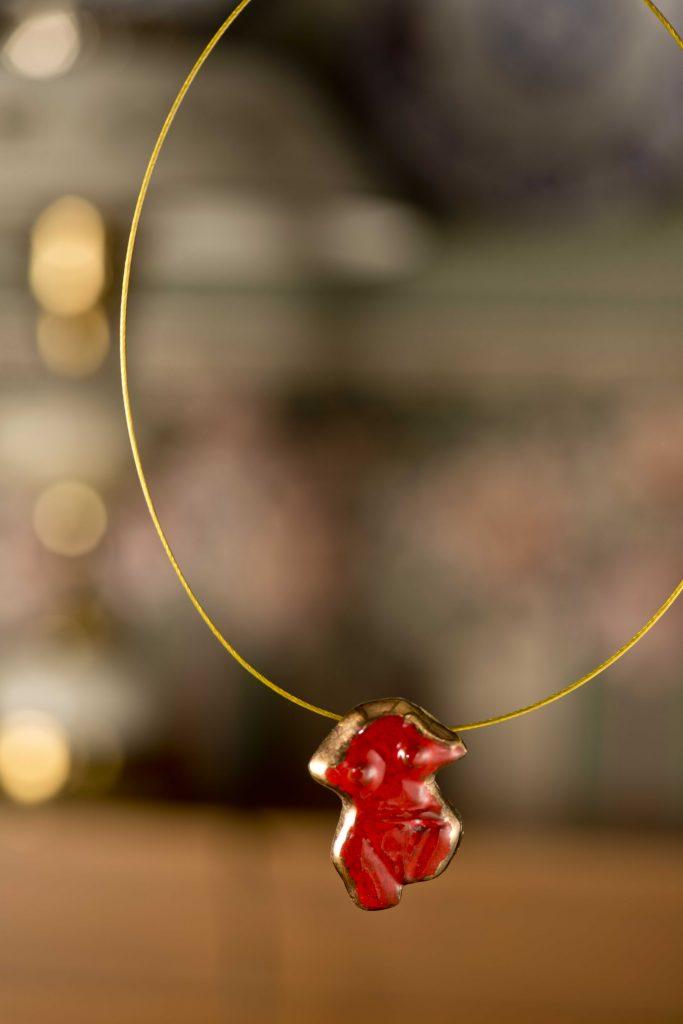 Kırmızı Seramik Kolye / Red Ceramic Neacklace